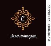template design for monogram ...   Shutterstock .eps vector #284383730
