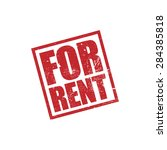 for rent  rubber stamp grunge... | Shutterstock .eps vector #284385818