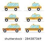 taxi car set. flat design | Shutterstock .eps vector #284387369