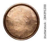 old copper tray on a white... | Shutterstock . vector #284391200