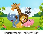 collection of animal africa | Shutterstock .eps vector #284394839
