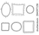 vintage sketch frames  isolated ... | Shutterstock . vector #284397158