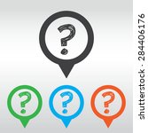 question mark icon ask sign ... | Shutterstock .eps vector #284406176
