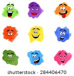 illustration of color patches... | Shutterstock . vector #284406470