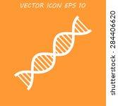 vector dna icon. flat vector...   Shutterstock .eps vector #284406620