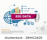 big data concept and... | Shutterstock .eps vector #284412620