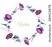 Watercolor Floral Wreath Summe...