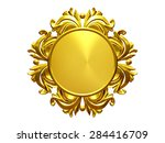 golden  ornamental  circle... | Shutterstock . vector #284416709