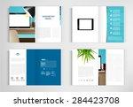 set modern book vector concept. ... | Shutterstock .eps vector #284423708