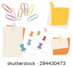 assortment of colorful pins and ...   Shutterstock .eps vector #284430473
