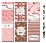 vintage vector card templates.... | Shutterstock .eps vector #284436233