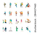 active people | Shutterstock .eps vector #284437460