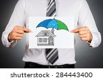 home insurance concept.... | Shutterstock . vector #284443400