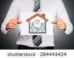 family and home insurance... | Shutterstock . vector #284443424