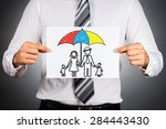 family insurance concept.... | Shutterstock . vector #284443430