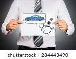 leasing car concept.... | Shutterstock . vector #284443490