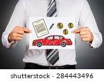 car loan concept. businessman... | Shutterstock . vector #284443496