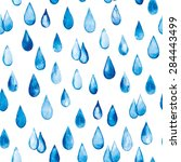 seamless pattern with drops of... | Shutterstock .eps vector #284443499