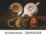 Stock photo masala tea with spices national indian traditional beverage with tea milk and spices 284446268