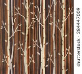 Abstract Decorative Trees Alley ...