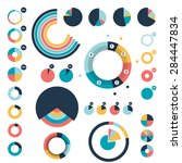 set of circle  round charts ... | Shutterstock .eps vector #284447834