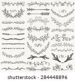 set of hand drawn black doodle... | Shutterstock .eps vector #284448896