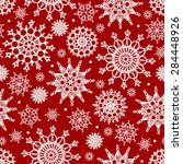 snowflakes seamless pattern. | Shutterstock .eps vector #284448926