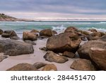 before the storm   big boulders ... | Shutterstock . vector #284451470