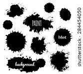 collection of paint splash.... | Shutterstock .eps vector #284454050