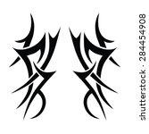 tribal tattoo vector design... | Shutterstock .eps vector #284454908