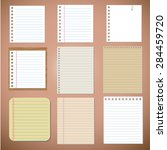vector set  paper designs and... | Shutterstock .eps vector #284459720