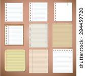 vector set  paper designs and... | Shutterstock .eps vector #284459720