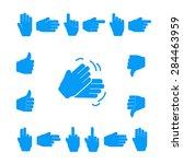 set of hands showing various... | Shutterstock .eps vector #284463959