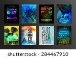 set of poster  flyer  brochure... | Shutterstock .eps vector #284467910
