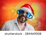 man with fashionable big beard... | Shutterstock . vector #284469008
