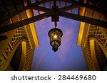 arabic lantern hanging from a... | Shutterstock . vector #284469680