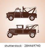 vintage tow trucks   Shutterstock .eps vector #284469740