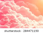 Pink Red Clouds On Sky...