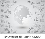 business world map globe with...