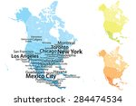 North America Map With Largest...