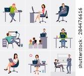 business process infographics... | Shutterstock .eps vector #284476616