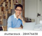 portrait of young businessman... | Shutterstock . vector #284476658