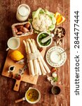 cooking ingredients for a... | Shutterstock . vector #284477444
