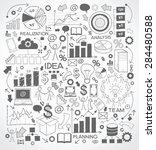 business background is doodles...   Shutterstock .eps vector #284480588