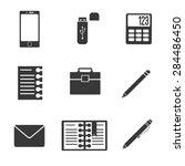 black icon business set | Shutterstock .eps vector #284486450