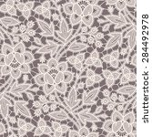 seamless pattern lace. gray... | Shutterstock .eps vector #284492978