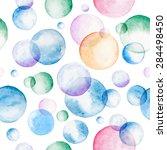 watercolor bubbles seamless... | Shutterstock .eps vector #284498450