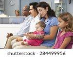 patients in doctors waiting room | Shutterstock . vector #284499956