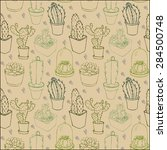 seamless pattern with different ...   Shutterstock .eps vector #284500748