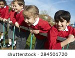 portrait of elementary school... | Shutterstock . vector #284501720